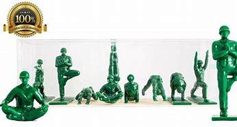 millitairen aan de yoga