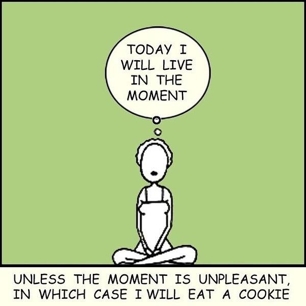 Leef in het moment yoga