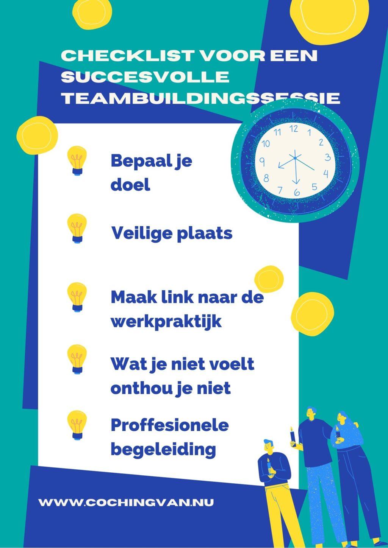 Checklist voor een succesvolle Teambuildingssessie