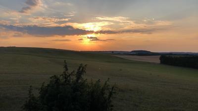 zonsondergang outdoor reis